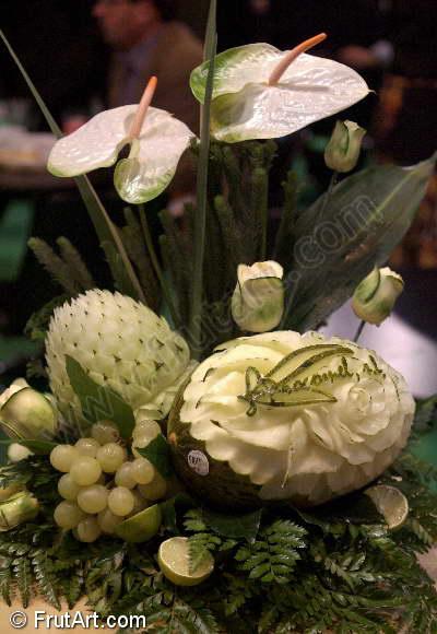 Melones. FrutArt. Galeria de Fotos. Tallado de frutas.
